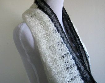 Cables of Lace - Infinity Scarf Hand Knit