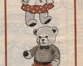 Alice Brooks Vintage Mail Order Pattern Girl and Boy Teddy Bear Stuffed Animals