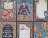 "Graphic 45 Steampunk Spells "" Vintage Voyage"" 12 x 12 scrapbook paper,  single sheet, double sided"