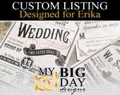 Erika's Wedding Invitation suites: 150, with white envelopes