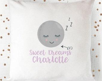 Sleepy Moon Sweet Dreams Cushion Cover