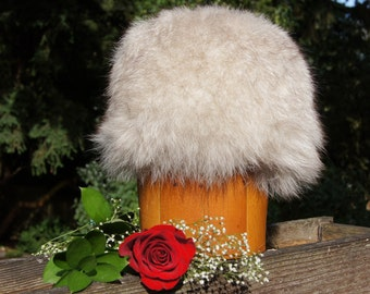 Russian Style Arctic Fox Fur White Fox Winter Hat
