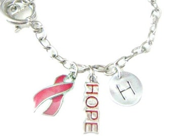 Hand Stamped Jewelry Breast Cancer Survivor /  Breast Cancer Awareness