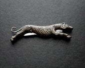 Antique Cast Iron Dog Hound Pen Folding Pocket Knife English 1800s
