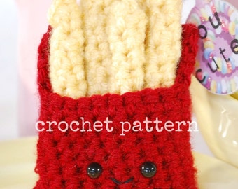 CROCHET PATTERN-amigurumi french fries crochet pattern-crochet fry pattern-amigurumi food pattern-amigurumi french fries