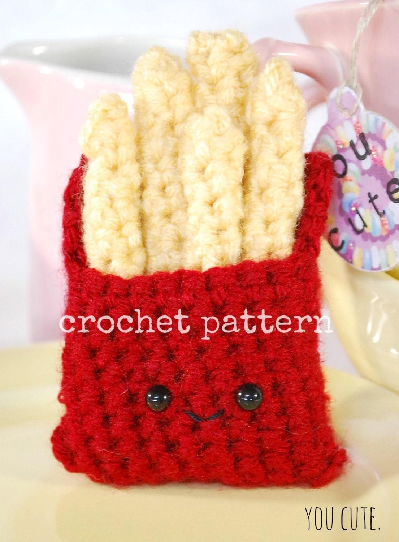 Crochet Pattern Amigurumi French Fries Crochet Pattern