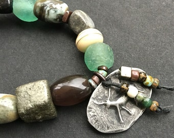 Beaded Stretch Bracelet in Earthy Colors