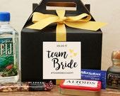 Bachelorette Favor Boxes // Hangover Kit // Bachelorette Weekend Survival Kit // Bachelorette Party Favor // Team Bride Bachelorette Label