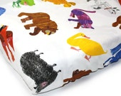 LARGE ANIMALS- crib sheet - Brown Bear book themed gender neutral nursery- Eric Carle crib sheet -woodland nursery bedding