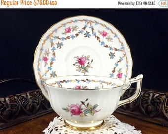 Royal Chelsea, Bone China Teacup, Vintage Tea Cup, Cup and Saucer, Antique Tea, English Bone China 12789