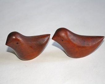 Mid Century Wood Salt and Pepper Shakers