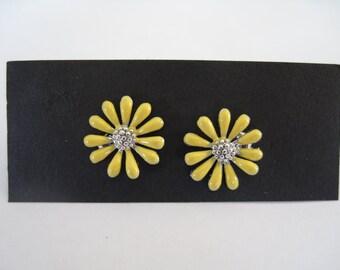 Yellow Daisy Post Earrings