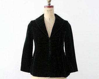 SALE 1970s velvet blazer, vintage 70s boho jacket