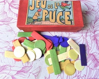 Boxed  Set of 50 multicolored Vintage Bone chips