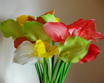 Calla Lily Stems- Vase filler, Calla Lily centerpiece, Flower Stems, Table flower centerpiece, Spring flowers, Summer flowers
