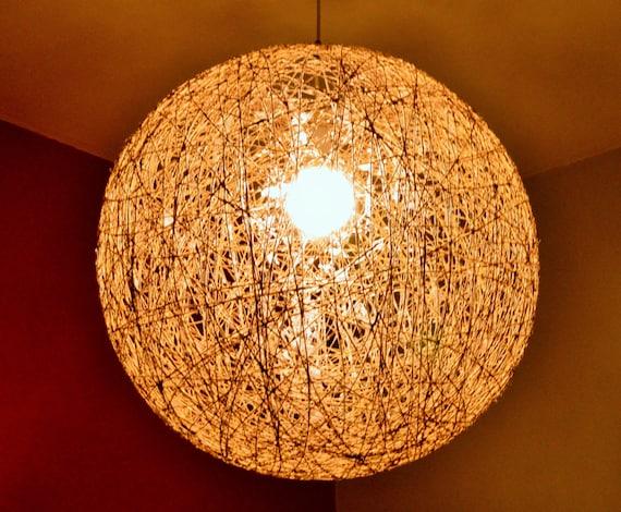 """Ceiling pendant lamp, sphere modern pendant light, design lamp, lighting fixture, bar design light, Hanging globe shadow light 50cm-20"""""""
