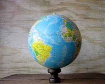 Vintage Globe Decor Display Prop
