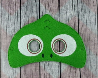 Chamileon felt mask, lizard mask, children's mask, Pascal inspired