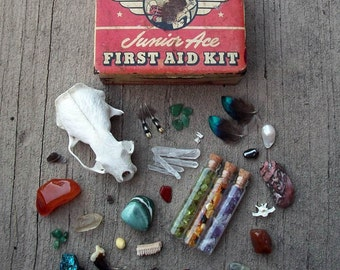 1940s Sentinel First Aid Kit Curiosity Collection