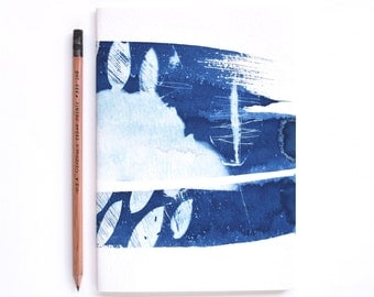 SALE OOAK Cyanotype Notebook /The Blue Because Notebook / A5 Blank Notebook / Handcrafted / Limited Stock / Last Stock / Travel Journal