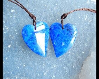 SALE,Lapis Lazuli Heart Earring Bead,22x17x5mm,5.72g