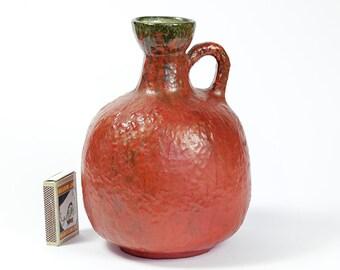 Ruscha Vase 333 Vulcano Glaze West German Volcano Tschoerner Pottery Fat Lava 60s