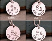 Big Sister Necklace - Hand Stamped Jewelry - Personalized Sterling Silver Necklace