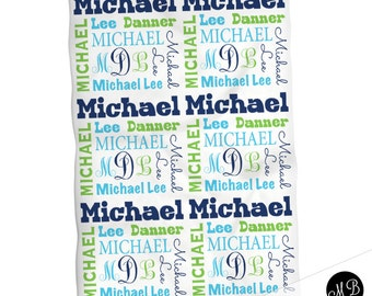 Baby boy personalized monogram baby blanket, receiving blanket, swaddle blanket, baby shower gift, boy gift, lime and navy baby blanket 1001