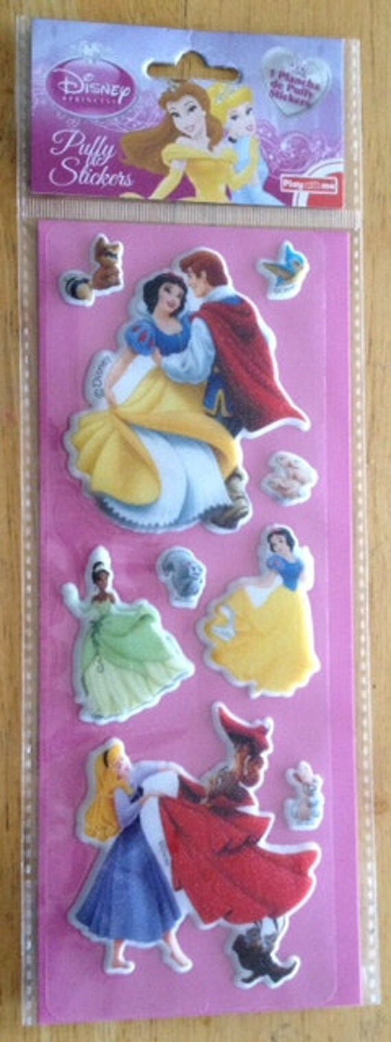 Disney Princesses Scrapbooking Puffy Stickers by ...