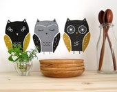 owls - wall decals
