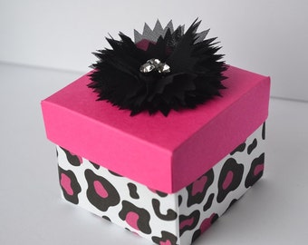 Pink small gift box, party favor,  boxes come ready to fill, sizes are adjustable