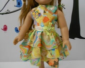 Doll clothes ruffled tiers dress fits 18 in like American Girl and similar dolls