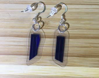 Solar Panel Dangle Earrings - Sterling Silver