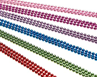 """100 COLORED 24"""" Ball Chain Necklaces - Multiple Color Choices of High Quality Colors"""