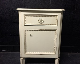 Ivory Beaded Nightstand