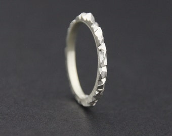 Mini Facet Ring: Sterling Silver, Tiny