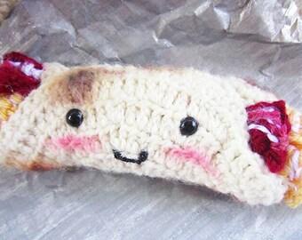 Tex Mex Bacon and Egg Breakfast Taco Amigurumi Cute Plush Doll - Handmade Crochet - Stuffed Animal Food - Unique Gift - Kawaii Toys