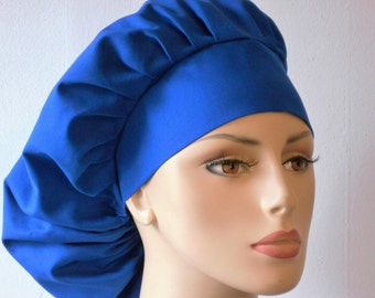 Surgical Scrub Hat - Royal Blue Solid Kona Cotton Made in the USA