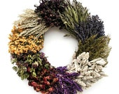 Wild 10- Herb Wreath-Handmade Wreath-Front Door Wreath-Fragrant Wreath-Preserve Door Wreath