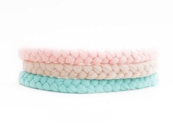 Pick 3 - Pastel Baby Headband - Blush Baby Headband - Newborn Headwrap - Jersey Baby Headband - Baby Headwrap - Sister Headband Set