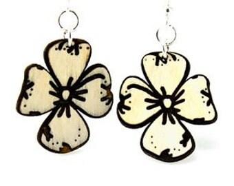 Dogwood Flowers - Wood Earrings