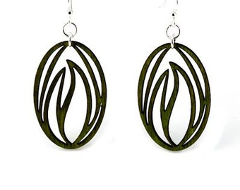 Seed of Growth - Laser Cut Earrings from Reforested wood