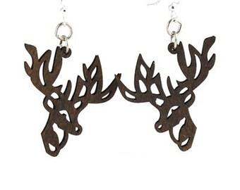 Reindeer Wood Earrings - Green Tree Jewelry