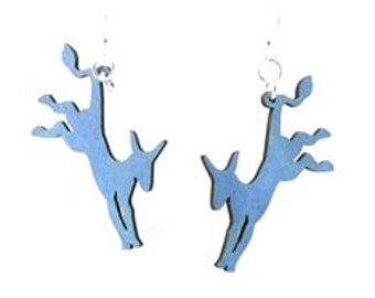 Democratic Donkeys - Laser Cut Earrrings from Reforested Wood