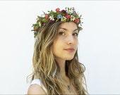 Wildflower Crown. White Daisy Wildflower Headpiece, Bridal Flower Crown, Bridal Headpiece, Coachella 2016, Festival Style, Woodland Wedding
