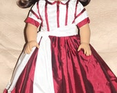 Reserve listing for emooney4 Scarlet O'Hara's Christmas dress for 18in American girl dolls