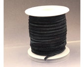 1 m black suede lace 2.5 x 1.2 mm black suede cord 2.5 mm Black cord Black lace black leather suede cord blck suede lace