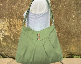 Grass green cross body bag, messenger bag, shoulder bag, diaper bag, cotton canvas bag