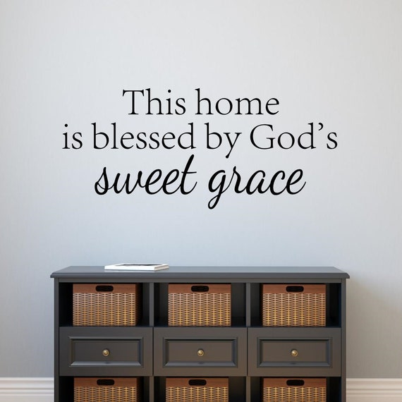 This Home is Blessed by God's Grace Wall Decal by TheStenciledBarn