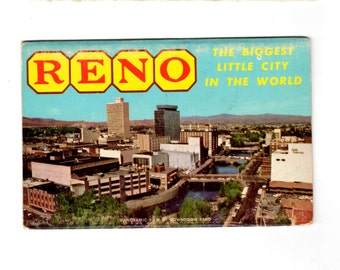 Vintage Reno Nevada Postcard Souvenir Folder